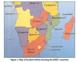 sadc countries map1